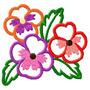 B474 Coleção Bordados Computadorizados Apliques Flores