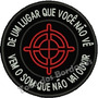Patch Bordado Sniper Atirador Paintball Airsoft 8x8cm Mlt160