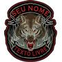 Bordado Lone Wolf Lobo Com Seu Nome + Texto Livre Car444
