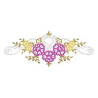 Rechilieu Floral Lady Grande - Coleção De Matriz De Bordado