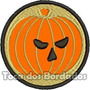 Patch Bordado Banda Rock Halloween Abobora 7x7cm Ban328