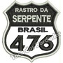 Patch Bordado Rastro Da Serpente 476 Brasil 7,5x7cm Car500