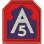 Patch Bordado A5 5º Exercito Aliado 2º Gerra 7x6cm Mlt95