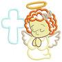 Religioso Infantil Aplique Grande - Cl. De Matriz De Bordado