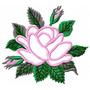 Rosas Vivaly Aplique - Coleção De Matriz De Bordado