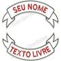 Kit 2 Tarjão C/ Seu Nome + Cidade Patch Moto P/ Colete Tj7