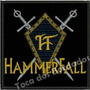 Patch Bordado Raro Banda Musica Hf Hammerfall 7,5cm Ban437