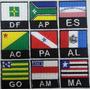 Mini Bandeira Bordada 4x4cm Com Sigla Patch Estado E Brasil