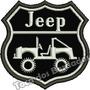 Patch Bordado Off Road Brasão Jeep 4x4 Tam. 7x7cm Car729