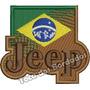 Patch Bordado 4x4 Brasão Jeep Brasil Tam.7x8cm Car756