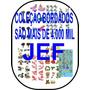 Coleção Bordados Jef 4 Mil Matrizes Digitais Dvd - Jef