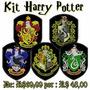Kit 5 Pçs Bordados Harry Potter Sonserina Gryffindor Kithp