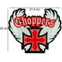 Patch Bordado Choppers Cruz Malta Grande Motociclista.