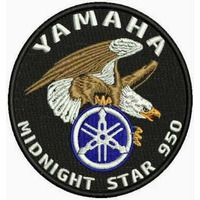 Patch Bordado Lm054 Bolacha Yamaha Midnight Star Aguia Logo