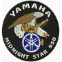 Patch Bordado Lm054 Bolacha Yamaha Midnight Star Aguia Logo