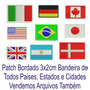 Patch Tag Bordado Mini Bandeiras Todos Estados 3x2cm