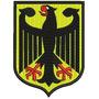 Bordado Termocolante - Brasões - Brasão Alemanha 8,5x6,7cm