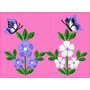 Bordados Computadorizados Bc10304 Flores Para Toalhas
