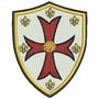 Patch Bordado Rl009 Simbolo Cavaleiros Templários Escudo