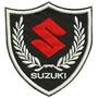 Patch Bordado Lm004 Mini Escudo Suzuki Moto Marca Colete Tag