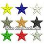 Kit Com 9 Estrelas Bordadas 1,6x1,5cm P/ Escudo Patch Esp55