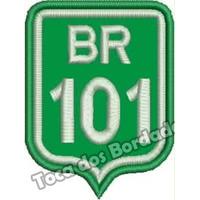 Patch Bordado Tag Placa Estrada Br101 Moto 8x6cm Car557