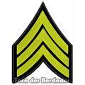 Bordado Termocolante Divisa Sargento Patch Guerra Mlt12
