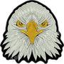 Patch Bordado Águia Grande 23cm Moto Eagle Jaqueta Car775