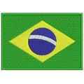 Patch Bordado Bandeira Do Brasil Tamanho 7x10cm Bdp112