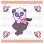 Bordado Computadorizados Urso Panda Lindo Bc4387