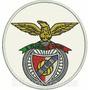 Tipt016 Benfica Escudo Futebol Tag Patch Bordado 10,7x11,4cm