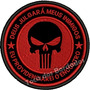 Patch Bordado Justiceiro Punisher Airsoft Tático 9cm Mlt141