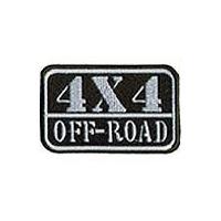 Patch Bordado 4x4 Off Road Verde Ad30010 9,3x6cm