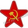 Patch Bordado Estrela União Sovietica Comunista 7cm Mlt136