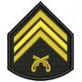 Bordado Termocolante- Hobby Militar- Divisa Sgt Pm 7,5x8,5cm