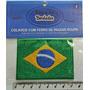 Patch Bordado Bandeira Do Brasil Termocolante Tam.5x7cm Bdp1
