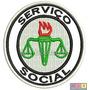 Bordado Termocolante - Profissões - Serviço Social 7,5x7,5cm