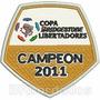 Tpc160 Copa Libertadores 2011 8x7,8cm Santos Patch Bordado
