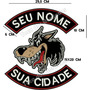 Patch Bordado Lobo Gr Biker Moto Texto Livre Costas Car744