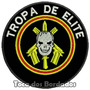 Patch Bordado Militar Bope Tropa Elite Caveira 8,5cm Mlt56