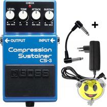Pedal Boss Cs-3 Guitarra Compressor Original Loja Kadu Som
