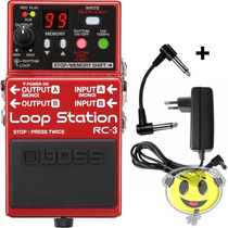 Pedal Boss Rc 3 Loop Station 99 Memórias E Porta Usb Roland