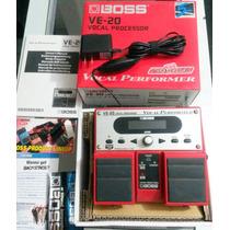 Pedal Boss Ve20 Vocal Processor Na Caixa C/ Fonte Original