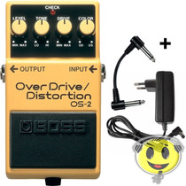 Pedal Boss Os-2 Overdrive Distortion + Brindes O F E R T A