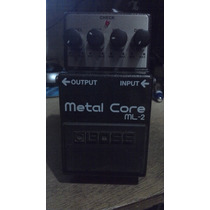 Pedal Boss Ml2 Metal Core (distorção, Metal Zone)