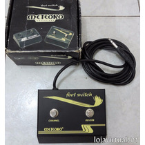 Pedal Footswitch Meteoto Para Amplificador 2 Canais