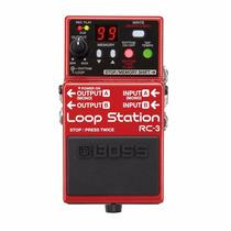 Pedal Boss Rc 3 Loop Station Para Guitarra + Brinde **