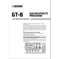 Manual Boss Gt-6 Português - Em Pdf
