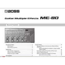 Manual Boss Me-80 Português - Em Pdf