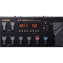 Gt100 Pedaleira Multi Efeitos Para Guitarra Gt 100 Boss 1484